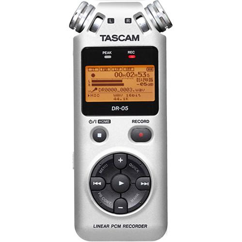 Tascam Recorder Dr 05 : tascam dr 05 portable handheld digital audio recorder dr05s b h ~ Vivirlamusica.com Haus und Dekorationen
