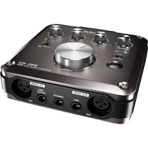 tascam us 366 usb 2 0 audio interface with dsp mixer us 366 b h. Black Bedroom Furniture Sets. Home Design Ideas