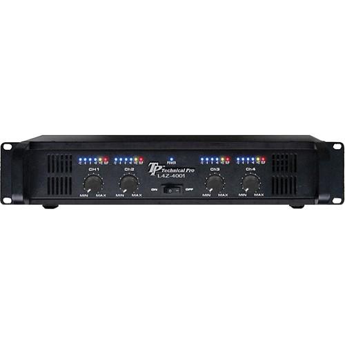 Technical Pro L4z4002 4 Channel Power Amplifier