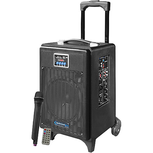 technical pro 8 39 39 portable pa system with rechargeable wasp700u. Black Bedroom Furniture Sets. Home Design Ideas