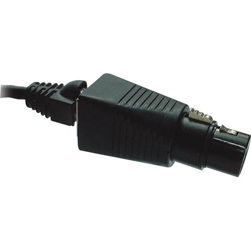 cat 5 xlr wiring tecnec dmx-5xf-cat5 5-pin xlr female to rj45 adapter