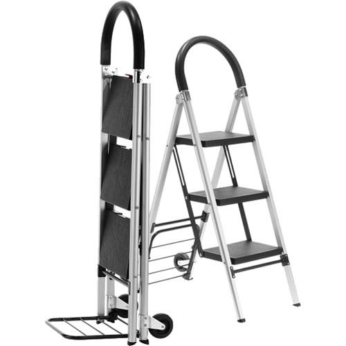 travel smart by conair ladderkart grade combination stepladder and hand cart