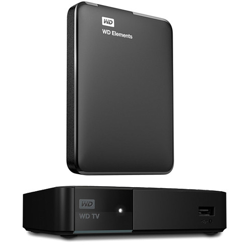 WD TV Media Player And 2TB Elements Portable Hard Drive