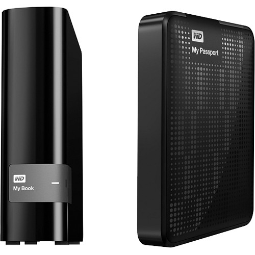 Wd 4tb My Book Desktop Hdd With 2tb My Passport Portable
