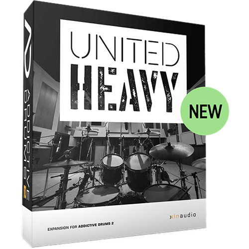 xln audio united heavy adpak for addictive drums 2 xln1065 b h. Black Bedroom Furniture Sets. Home Design Ideas