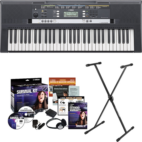 Yamaha psr e243 portable keyboard kit b h photo video for Yamaha psr e243 accessories