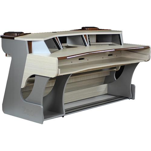 Zaor Miza X2 Studio Desk Titanium Wenge Mz X2 Tit Wen B Amp H