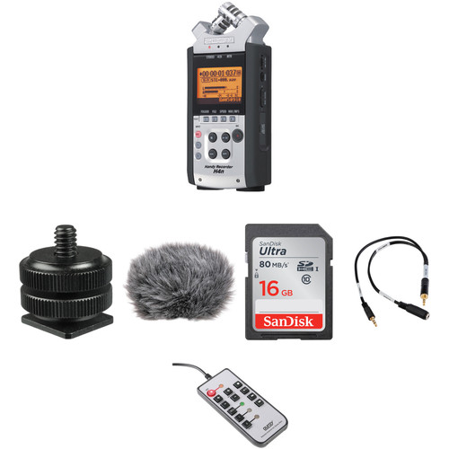 zoom h4n 4 channel handy recorder on camera dslr audio kit b h. Black Bedroom Furniture Sets. Home Design Ideas