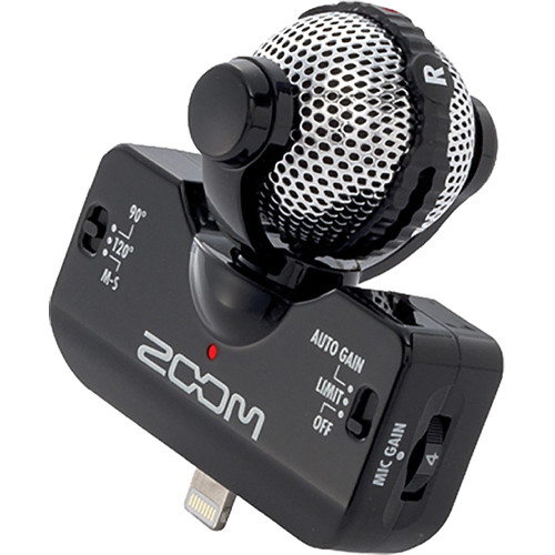 zoom iq5 stereo microphone for ios devices with lightning ziq5b. Black Bedroom Furniture Sets. Home Design Ideas