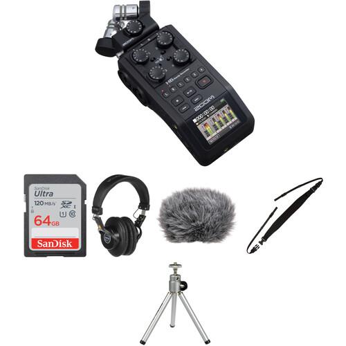 zoom h6 portable recorder field kit b h photo video. Black Bedroom Furniture Sets. Home Design Ideas