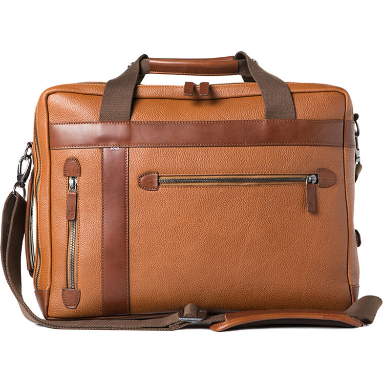 Barber Undercut Convertible Camera Bag Grained Leather Brown