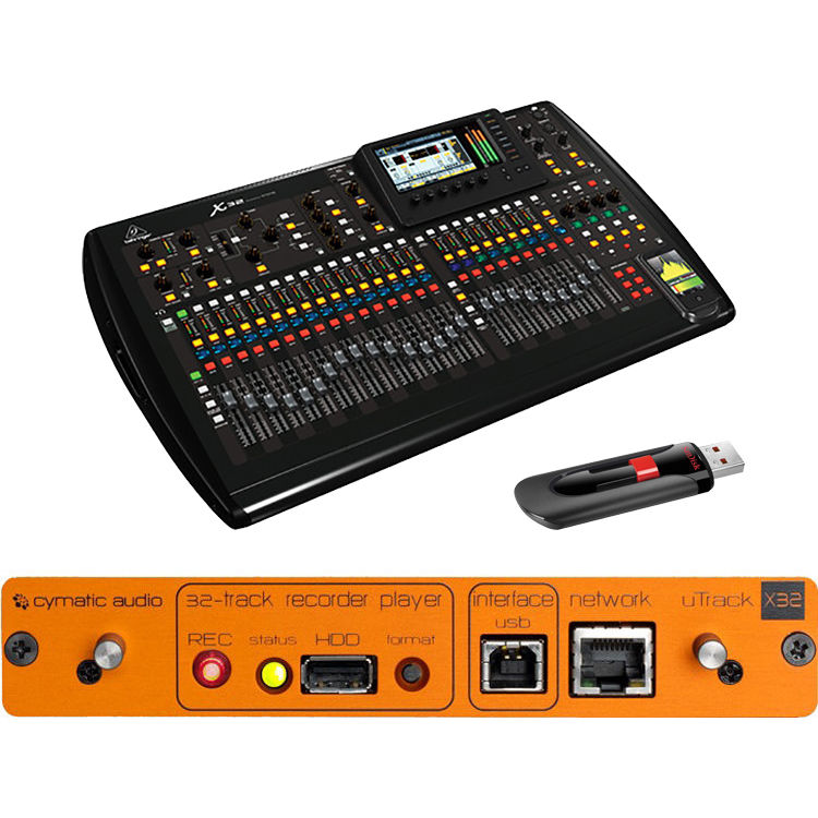 behringer x32 recorder kit with cymatic audio usb recording b h. Black Bedroom Furniture Sets. Home Design Ideas