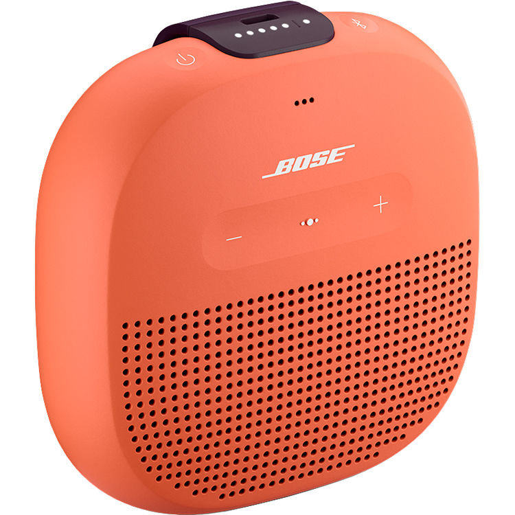 Bose Soundlink Micro Bluetooth Speaker Bright Orange With Dark Plum Strap