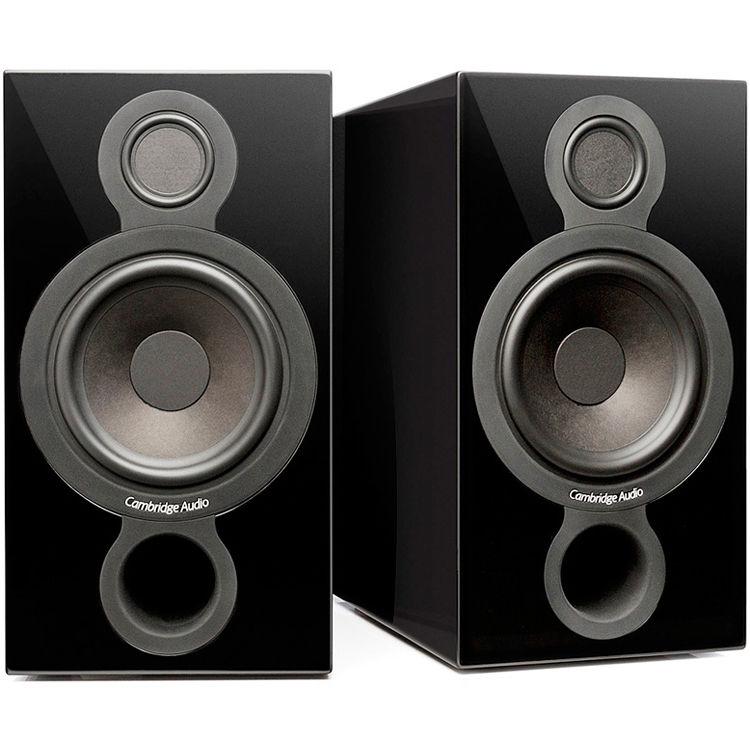 Cambridge Audio Aeromax 2 Way Bookshelf Speakers Gloss Black Pair