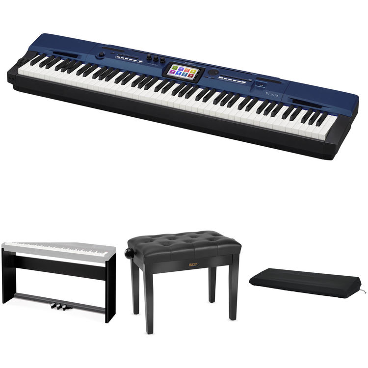 casio px 560 privia 88 key digital piano with stand bench b h. Black Bedroom Furniture Sets. Home Design Ideas