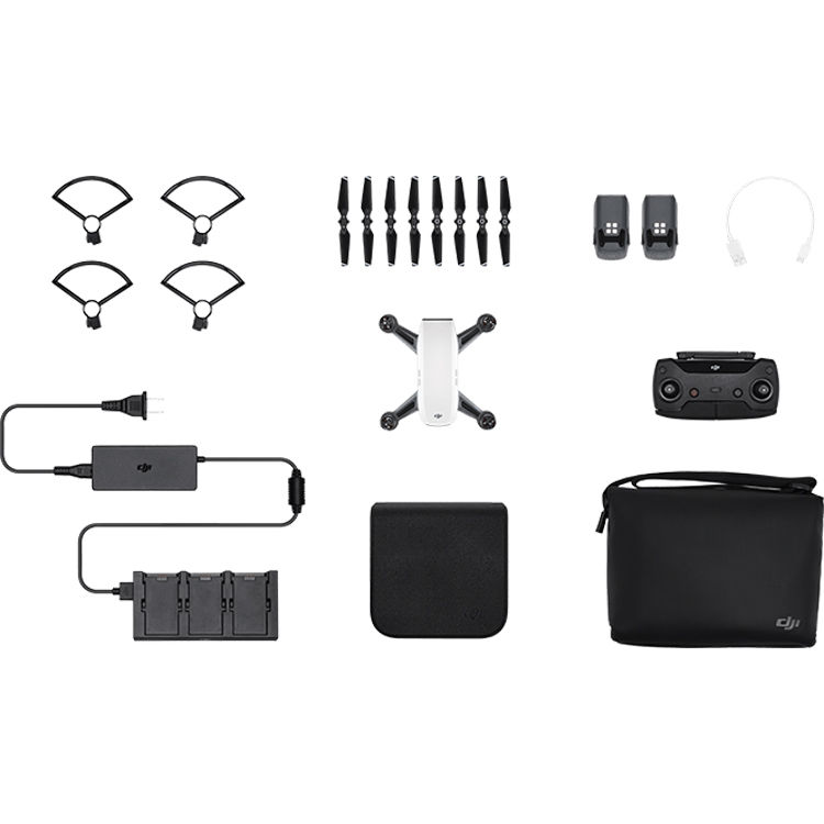 dji spark fly more combo alpine white cp b h photo. Black Bedroom Furniture Sets. Home Design Ideas