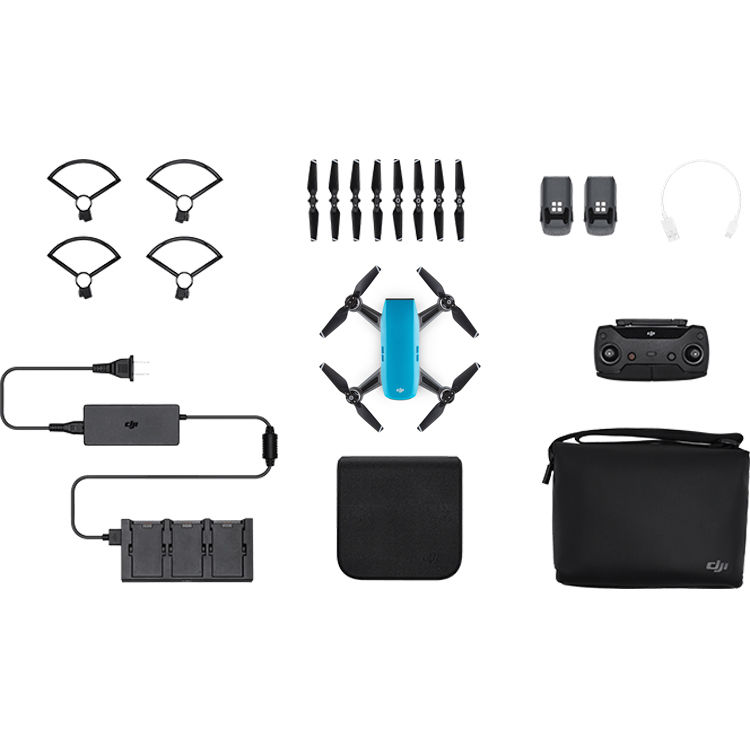 DJI Spark Fly More Combo (Sky Blue) CP.PT.000902 B&H Photo ...