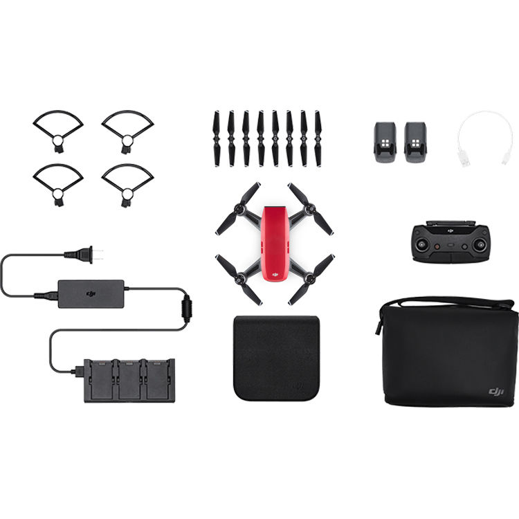dji spark fly more combo lava red cp b h photo video. Black Bedroom Furniture Sets. Home Design Ideas