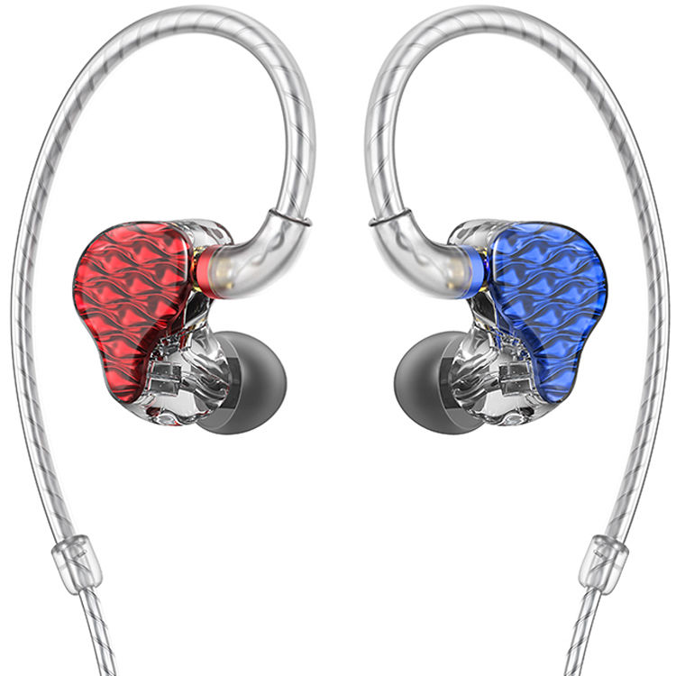 FA7 Quad Driver Balanced Armature In-Ear Monitors (Red/Blue)