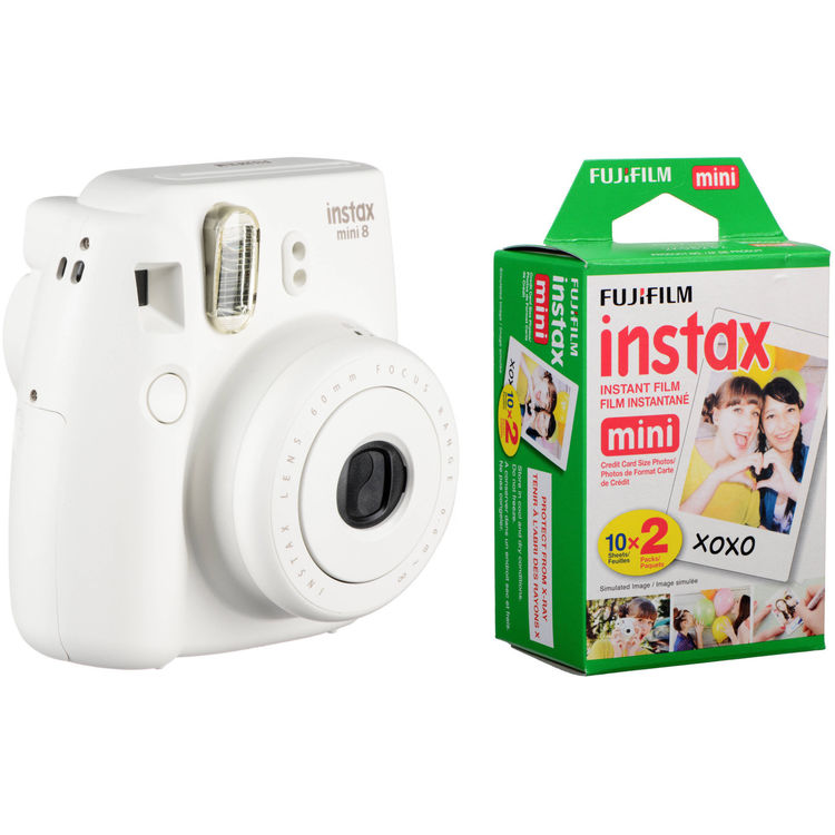 fujifilm instax mini 8 instant film camera with twin pack of b h. Black Bedroom Furniture Sets. Home Design Ideas