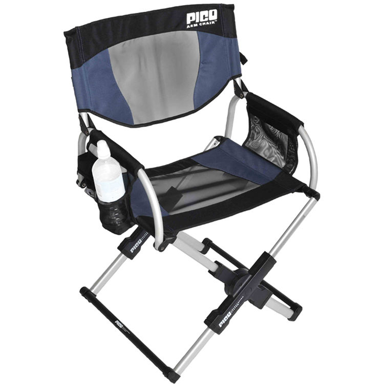 GCI Outdoor PICO Telescoping Arm Director s Chair Navy