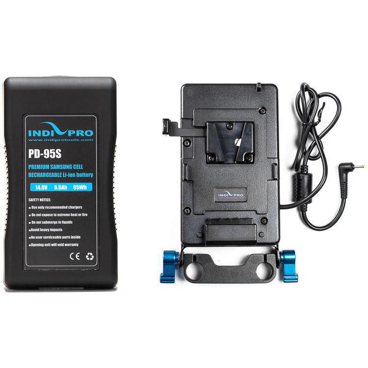 Indipro Tools V Mount Battery And Plate With Blackmagic Pocket