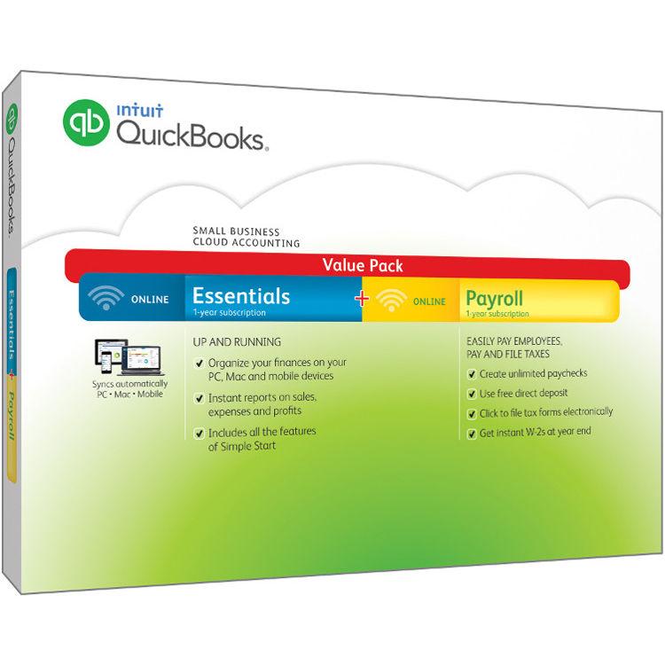 Intuit QuickBooks Online Essentials with Online Payroll 426338