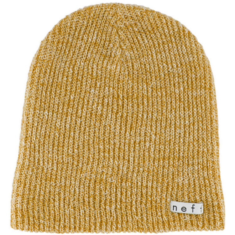 cade7f3a107 Neff Daily Heather Beanie (Mustard   White) NF00006-MSWH B H