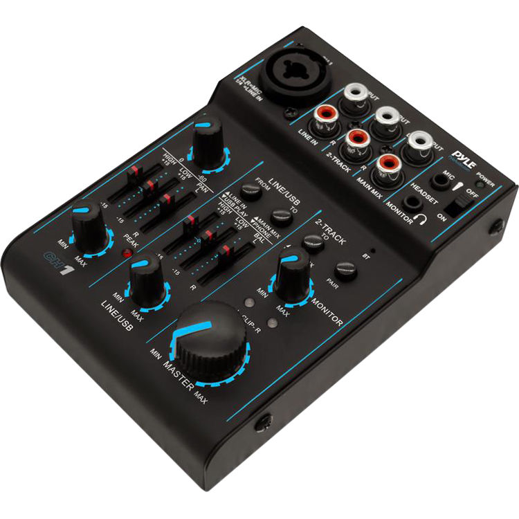 Pyle Pro Bluetooth-Enabled 3-Channel DJ Mixer / Audio ...