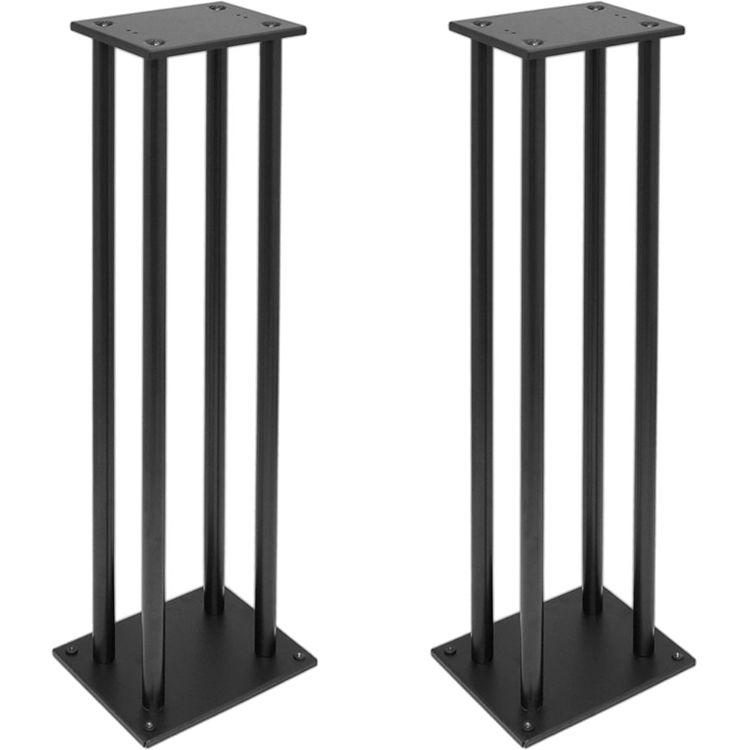 Pyle Pro PSTND14 Heavy Duty Steel Bookshelf Monitor Speaker Stand Black Pair