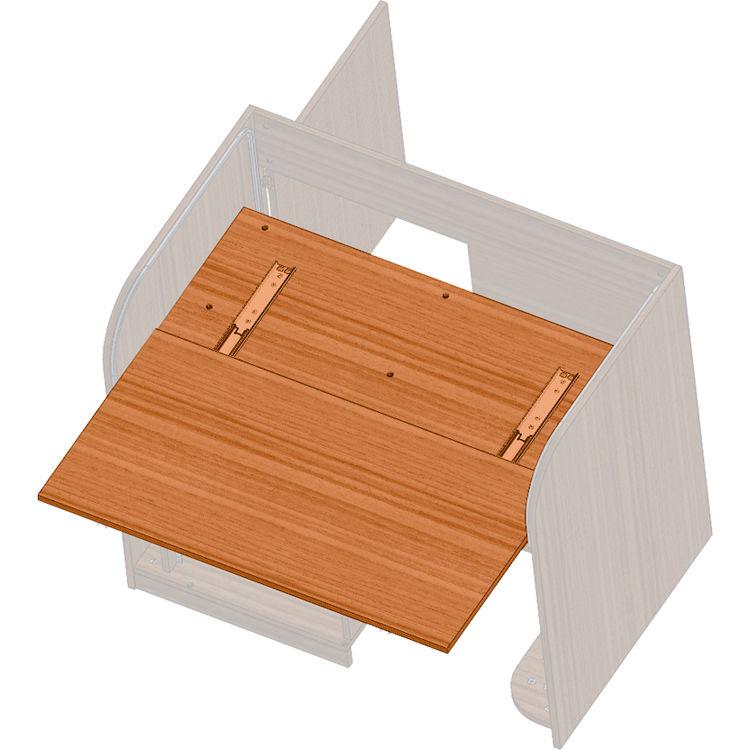Raxs Sliding Shelf For Ert Desks Cherry