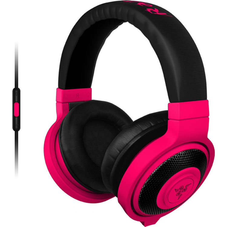 432abe9d3dc Razer Kraken Mobile Headphones (Neon Red) RZ04-01400300-R3U1 B&H