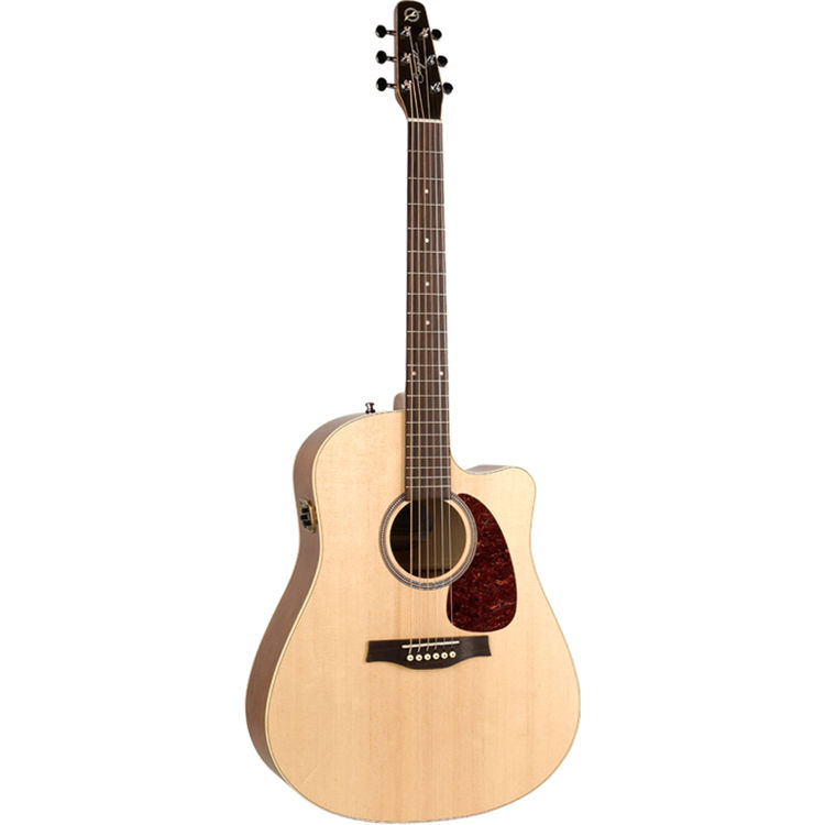 Seagull Guitars Entourage Natural Spruce CW QIT Acoustic Electric Guitar Semi Gloss