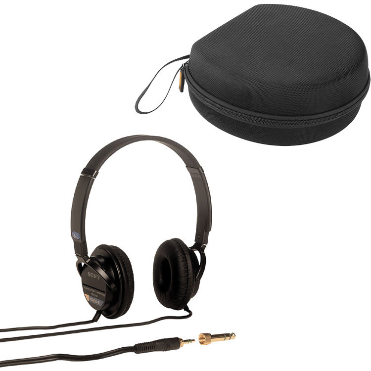 7adc2e65909 Sony MDR-7502 Headphones with Carrying Case Kit B&H Photo Video
