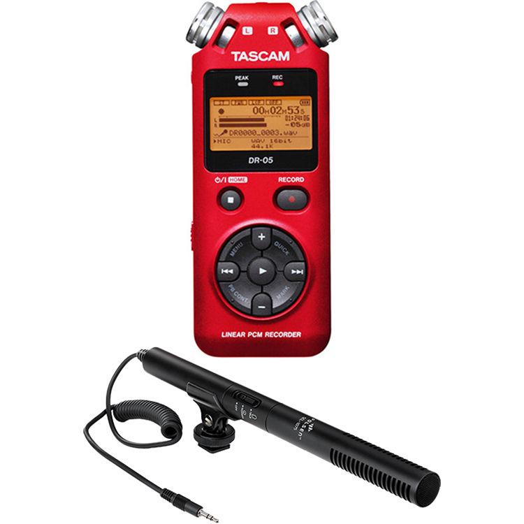 Tascam Recorder Dr 05 : tascam dr 05 digital audio recorder kit with shotgun microphone ~ Vivirlamusica.com Haus und Dekorationen