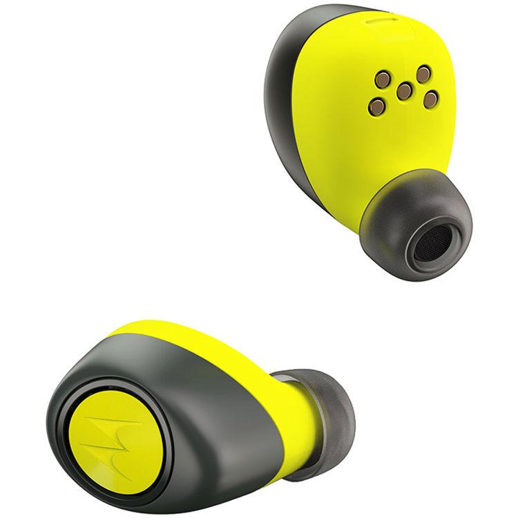 motorola earbuds. vervelife by motorola verveones+ music edition bluetooth wireless earbuds (black/lime)