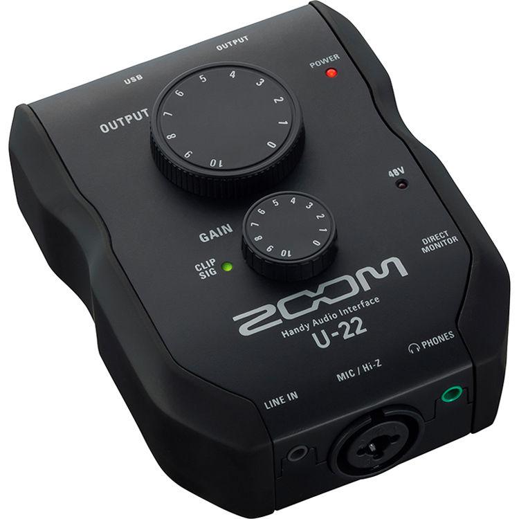 zoom u 22 usb mobile recording and performance interface zu22. Black Bedroom Furniture Sets. Home Design Ideas