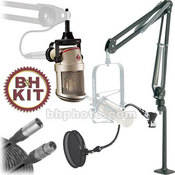 Neumann Voice-Over Microphone Kit - Includes: Neumann BCM-104 Voice-Over Microphone, Articulating Microphone Arm, Pop Filter and XLR Cable