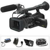 Sony HVR-V1U HDV 1080i/24p Cinema Style Camcorder Kit, includes Anton Bauer ElipZ Battery Package, DVD, and Camcorder Bag
