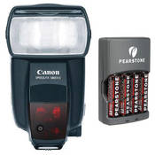 Canon 580EX II Speedlite E-TTL II Shoe Mount Flash with 4x AA NiMH Batteries & Charger Kit