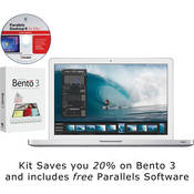 """Apple 15.4"""" MacBook Pro Notebook Computer with Bento 3 and Parallels 6 Software"""