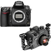 Aquatica Underwater Housing w/ Double Nikonos Bulkheads Kit with Nikon D700 Digital Camera