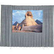 Da-Lite 36547KGR Drapery Kit With Drapery Bar (9 x 12', Gray)