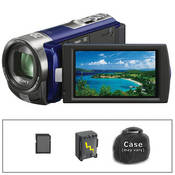 Sony DCR-SX45 SD Flash Memory Camcorder with Basic Accessory Kit (Blue)