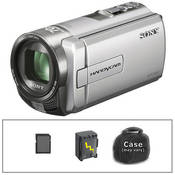 Sony DCR-SX65 Flash Memory Camcorder with Basic Accessory Kit (Silver)