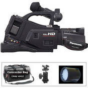 Panasonic AG-AC7 Shoulder-Mount AVCHD Camcorder with Lighting Kit