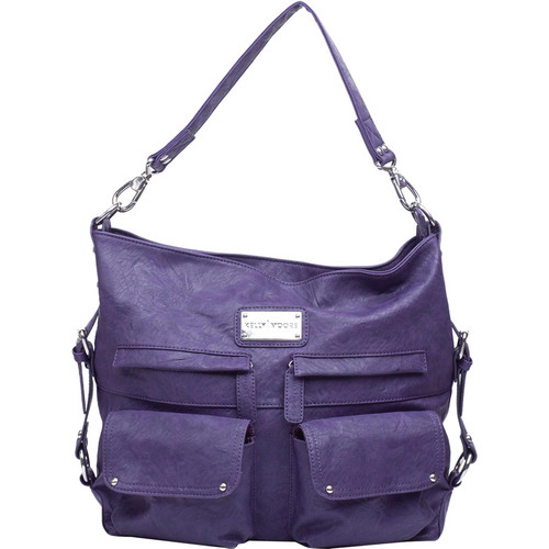 Kelly Moore Bag 2 Sues Shoulder Bag with Removable Basket (Eggplant)