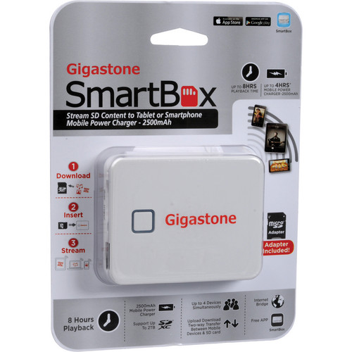 Dane-Elec Gigastone SmartBox A2 Wireless Portable Drive (White)