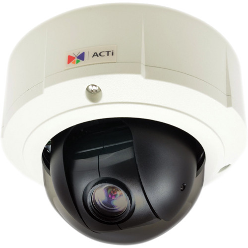 ACTi B97 3 Mp Superior WDR Mini PTZ Day & Night Outdoor Dome PoE Camera with 10x Zoom Lens