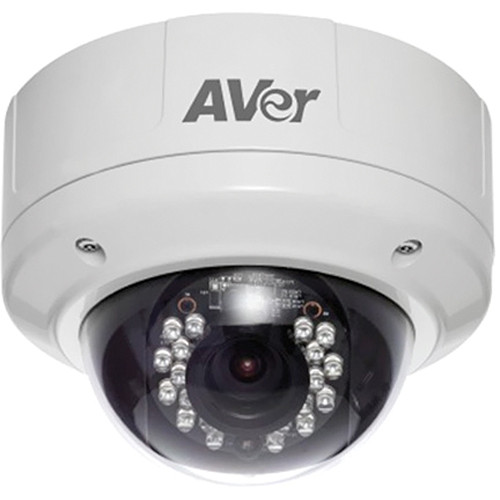 AVer Rugged Series FV3028 3 Mp 1080p Full HD Vandal-Resistant Indoor / Outdoor IP Dome Camera
